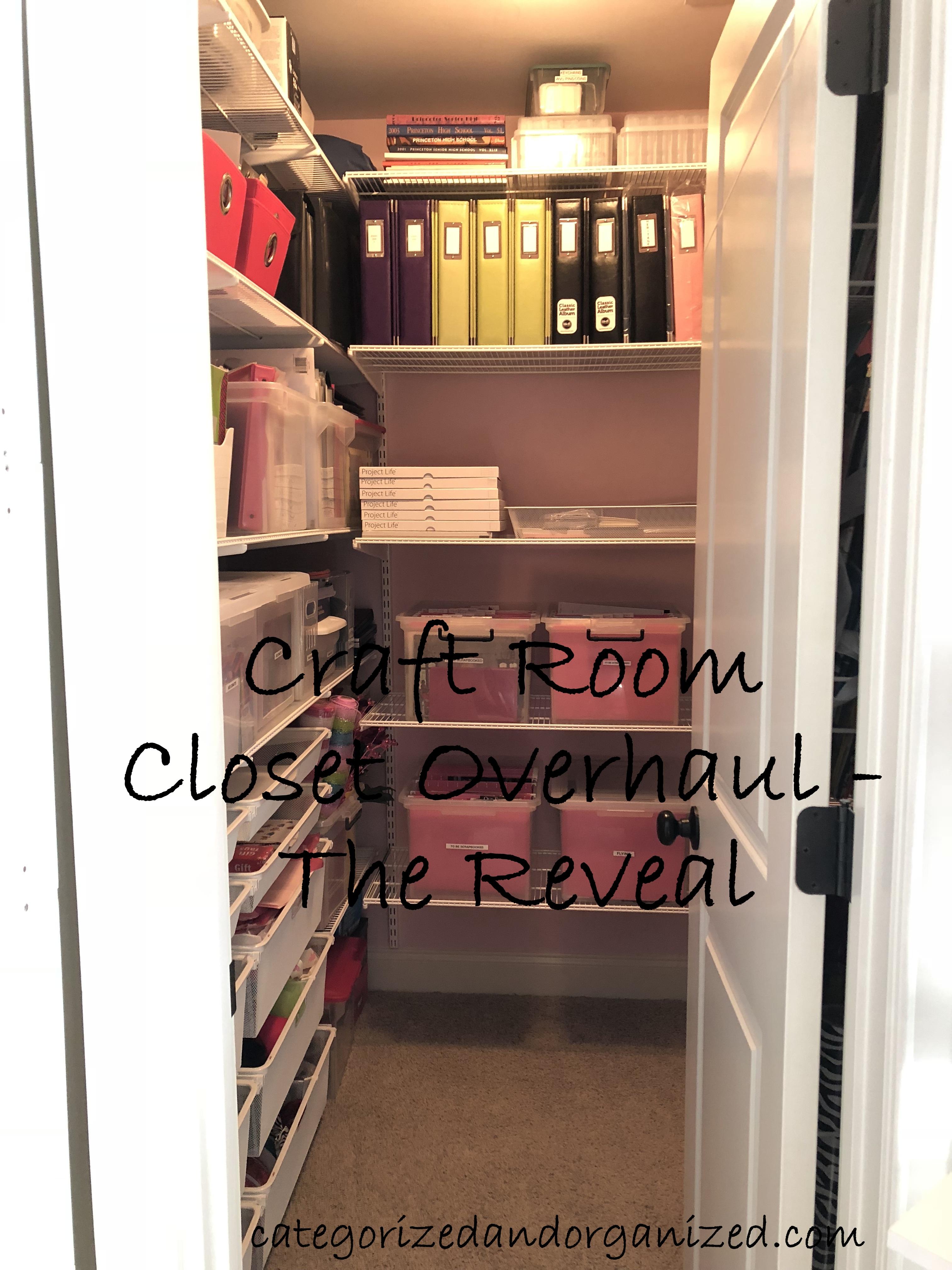 Craft Room Closet Overhaul The Big Reveal Categorized